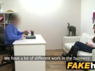 Fake Agent Italian likes to be fucked hard on the couch