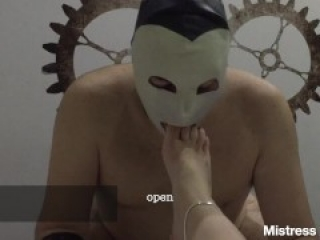 Young Italian Mistress submits and humiliates a slave with her feet