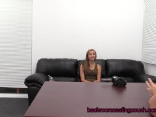 Amateur Amber Assfuck & Anal Creampie on Casting Couch