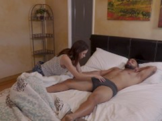FULL SCENE - Stepsister Sucks Sleeping Stepbrother Dry